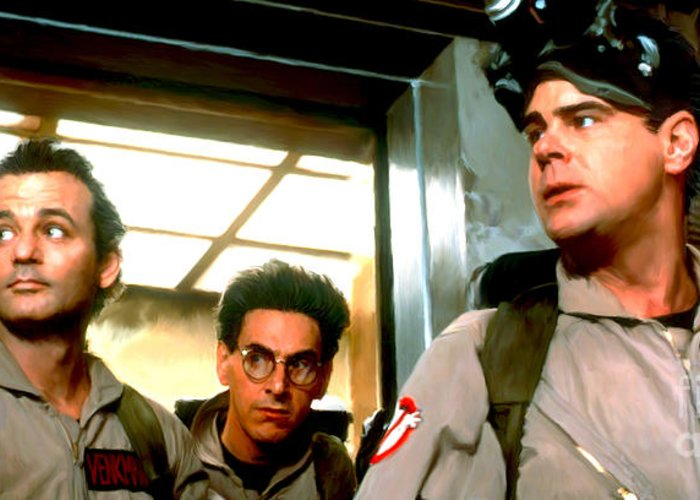 Ecto-1 Greeting Card featuring the painting Ghostbusters by Paul Tagliamonte