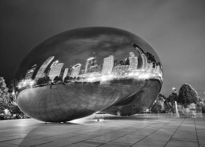 3scape Photos Greeting Card featuring the photograph Ghosts In The Bean by Adam Romanowicz