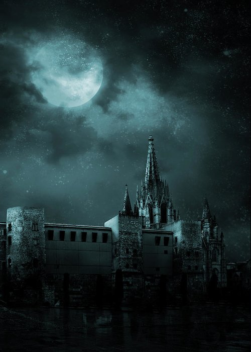 Gothic Style Greeting Card featuring the photograph Ghosts In The Empty Town by Vladgans