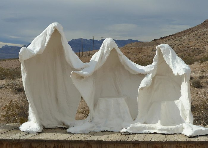Ghosts Greeting Card featuring the photograph Ghosts Of Rhyolite B by Carole Neat