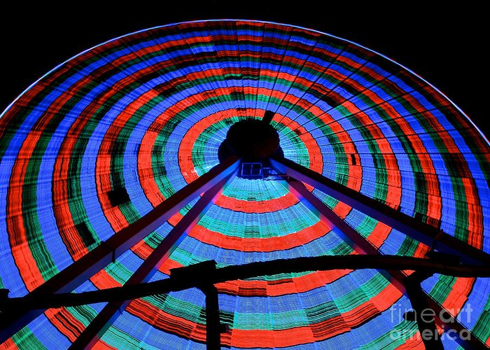 156 Foot Tall Greeting Card featuring the photograph Giant Wheel by Mark Miller