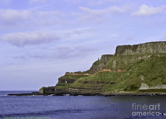 2009 Greeting Card featuring the photograph Giant's Causeway by Sandra Wyckoff