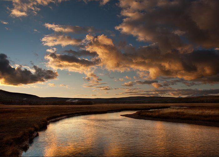 Water Greeting Card featuring the photograph Gibbon River Yellowstone by Steve Gadomski