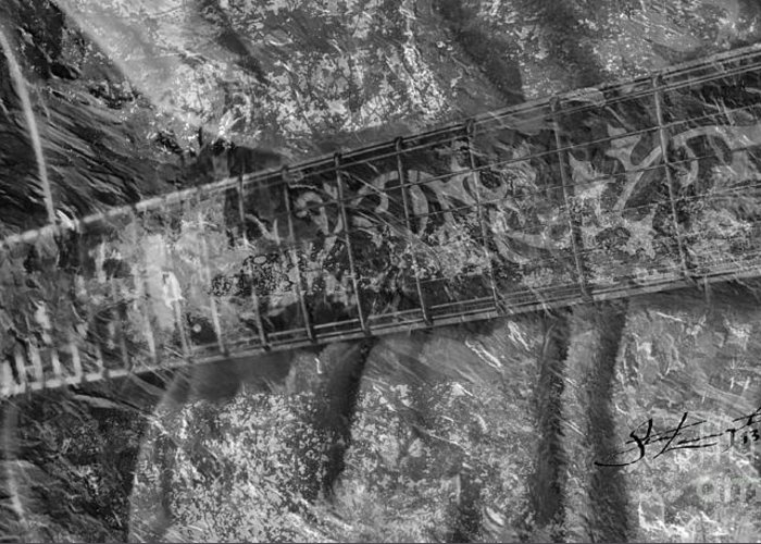 Acoustic Greeting Card featuring the photograph Gibson In Black And White Digital Guitar Art By Steven Langston by Steven Lebron Langston
