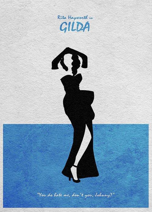 Rita Hayworth Greeting Cards
