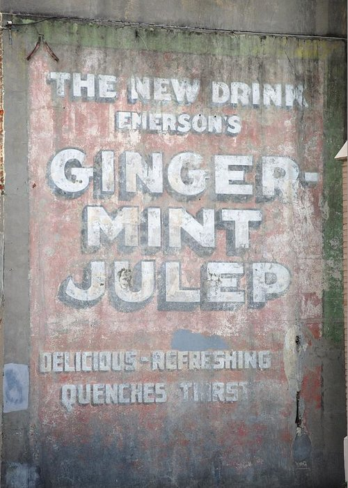 Ghost Writing Greeting Card featuring the photograph Ginger-mint Julep by Pamela Schreckengost