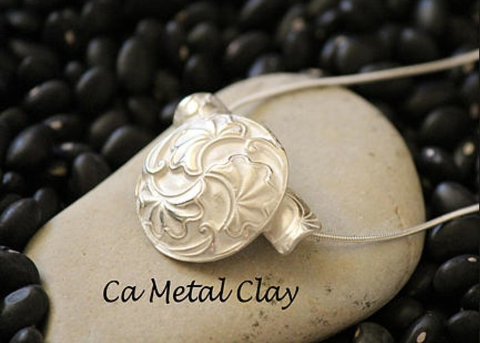 Precious Metal Clay Greeting Card featuring the jewelry Ginko by Carrie Godwin