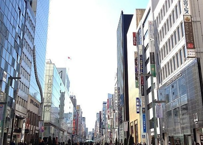 Ginza Greeting Card featuring the photograph #ginza#tokyo by Tokyo Sanpopo