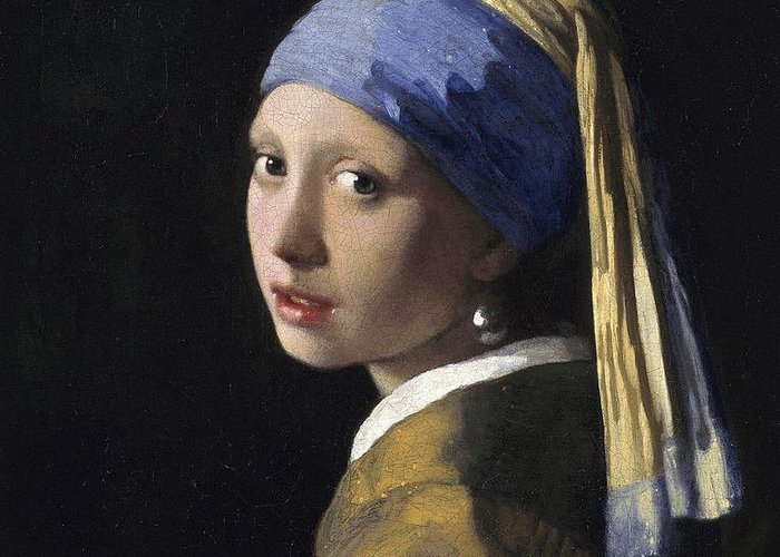 Johannes Vermeer Greeting Card featuring the painting Girl With A Pearl Earring by Johannes Vermeer