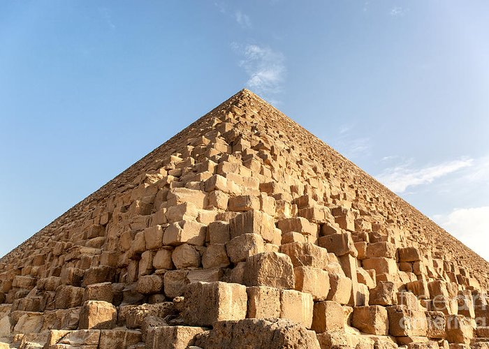 Africa Greeting Card featuring the photograph Giza Pyramid Detail by Jane Rix