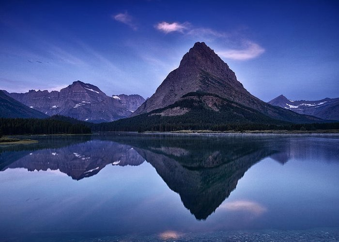 National Park Greeting Card featuring the photograph Glacier Park Reflection by Andrew Soundarajan