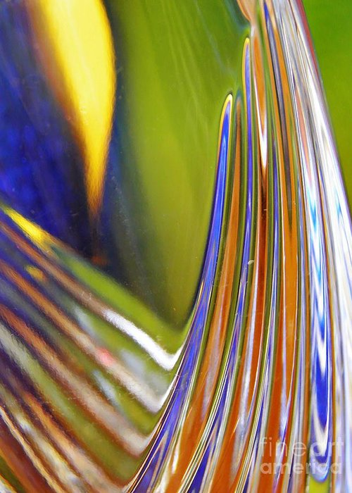 Glass Greeting Card featuring the photograph Glass Abstract 743 by Sarah Loft