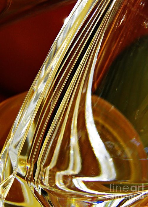 Abstract Greeting Card featuring the photograph Glass Abstract 744 by Sarah Loft