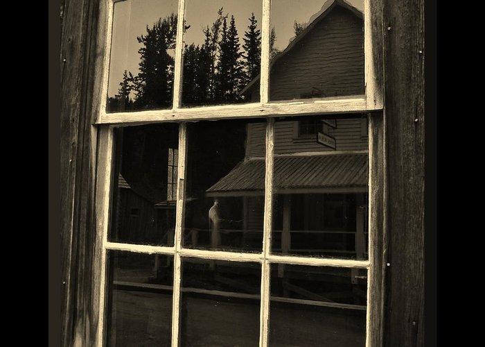 Ghost Image In The Window Greeting Cards