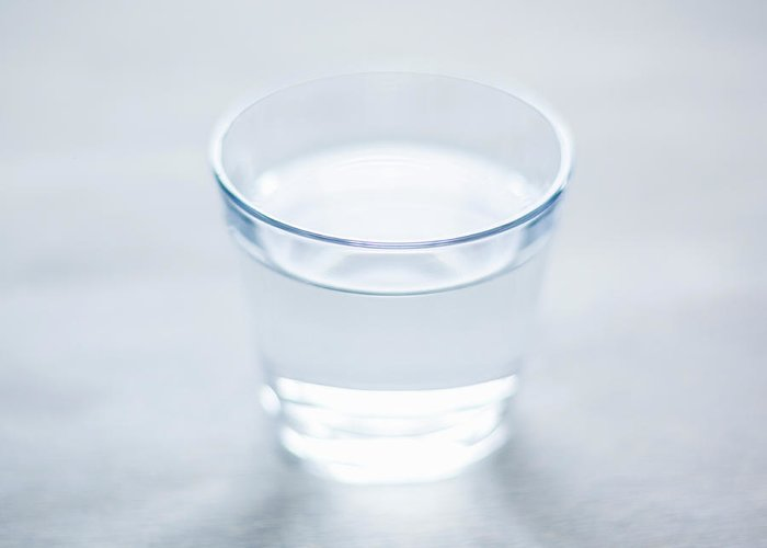 White Background Greeting Card featuring the photograph Glass Of Water by Steven Errico
