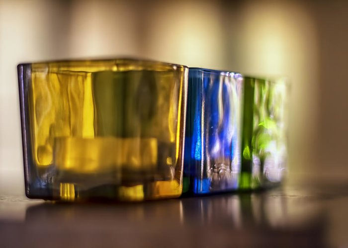 Glass Greeting Card featuring the photograph Glasses Of Light by Georgia Fowler