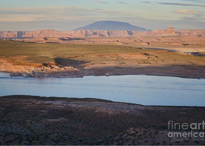 Glen Canyon Greeting Card featuring the photograph Glen Canyon And Navajo Mountain by Dave Gordon