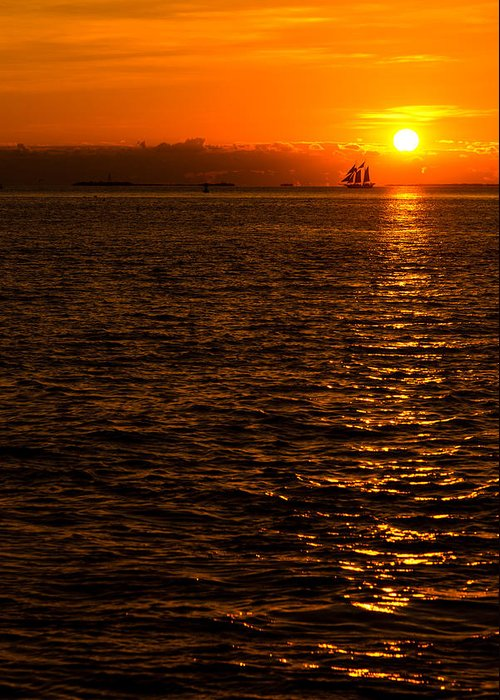 Sunset Greeting Card featuring the photograph Glimmer by Chad Dutson