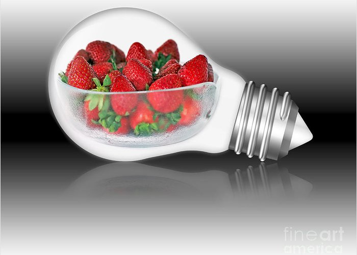 Photography Greeting Card featuring the photograph Global Strawberries by Kaye Menner
