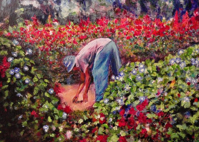 Morning Glory Greeting Card featuring the painting Glorious Morning by Michael Durst