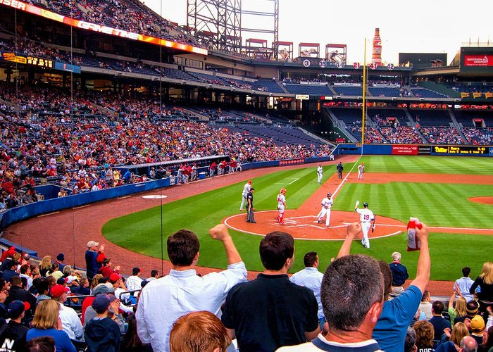 Baseball Greeting Card featuring the photograph Go Bravos by Larry Bishop