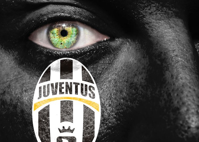 Art Greeting Card featuring the photograph Go Juventus by Semmick Photo