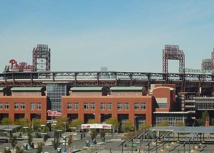 Philadelphia Phillies Greeting Card featuring the photograph Go Phils by Michael Porchik