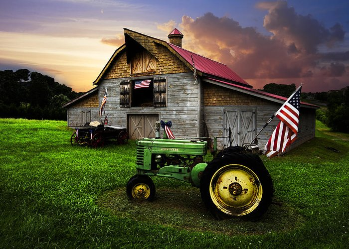 American Greeting Card featuring the photograph God Bless America by Debra and Dave Vanderlaan
