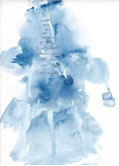 Watercolor Greeting Card featuring the painting God Gives Us Life and Light by B L Qualls