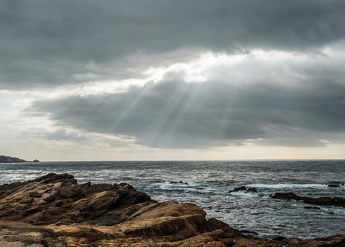 Big Sur Greeting Card featuring the photograph God Rays by George Buxbaum