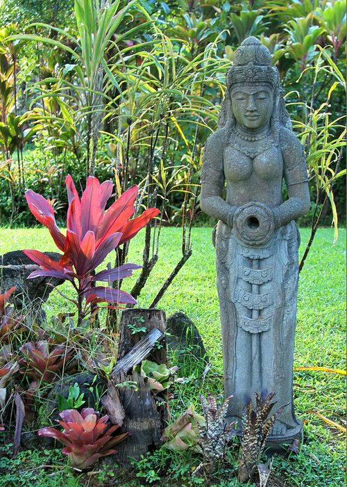 Diety Greeting Card featuring the photograph Goddess Bhudevi Mother Earth by Karon Melillo DeVega