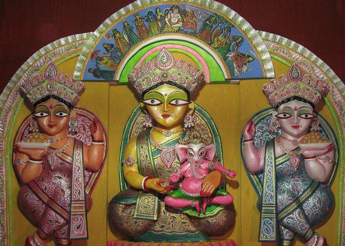 Goddess Durga Greeting Card featuring the photograph Goddess Durga by Pradipkumarpaswan