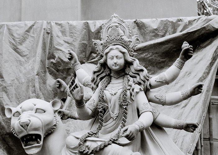 Woman Greeting Card featuring the photograph Goddess Durga by Shaun Higson