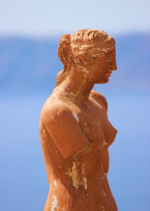 Aphrodite Greeting Card featuring the photograph Goddess Of Love by Janice Aponte