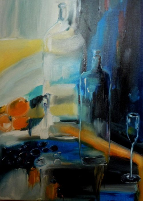 Still Life Greeting Card featuring the painting Going And Staying by Terri Zuver