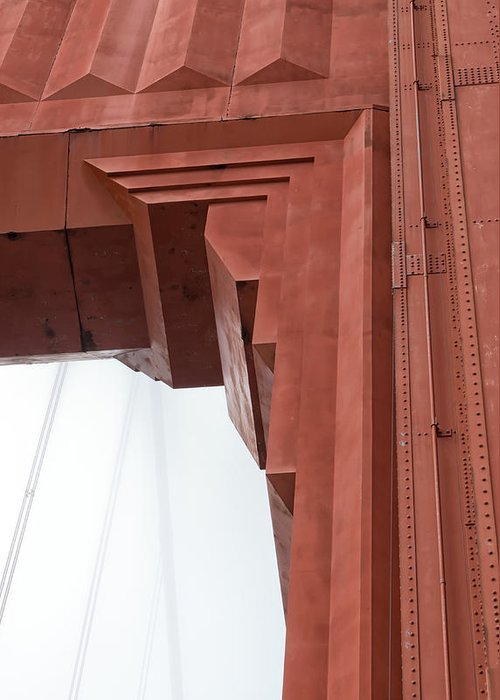 Golden Gate Bridge Greeting Card featuring the photograph Golden Art Deco by Chad Tracy