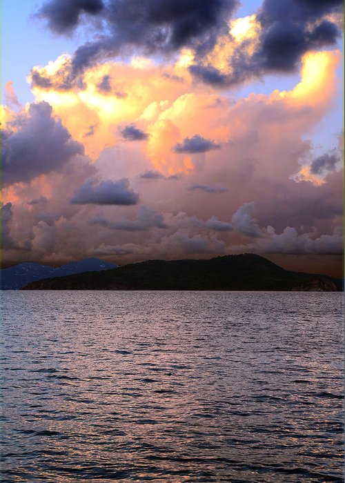 Storm Greeting Card featuring the photograph Golden Clouds by  Michael Glenn