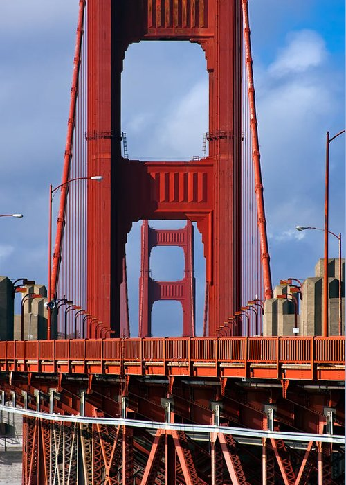 3scape Photos Greeting Card featuring the photograph Golden Gate Bridge by Adam Romanowicz