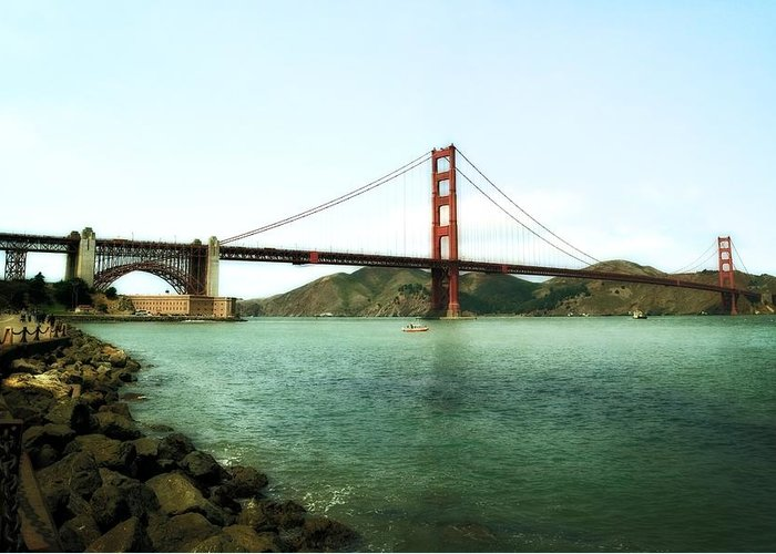 Golden Gate Bridge Greeting Card featuring the photograph Golden Gate Bridge 2.0 by Michelle Calkins