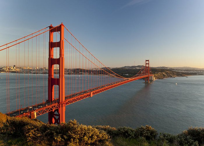 California Greeting Card featuring the photograph Golden Gate Bridge by Francesco Emanuele Carucci