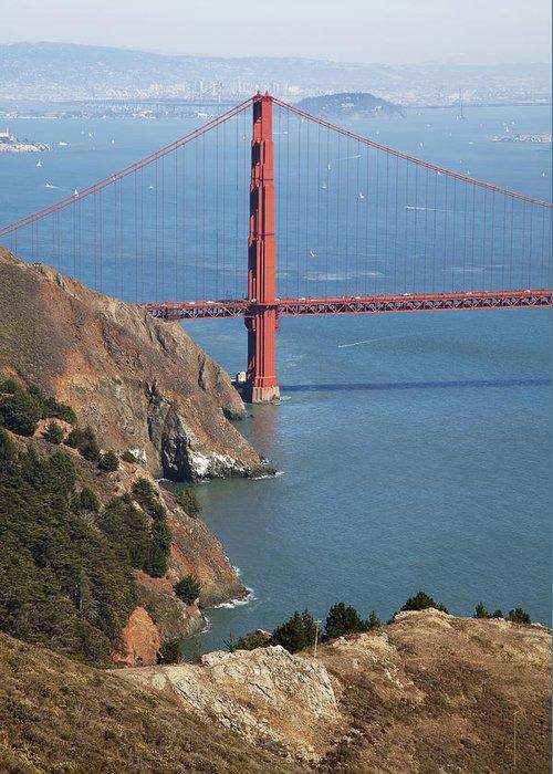 American Greeting Card featuring the photograph Golden Gate Bridge II by Jenna Szerlag