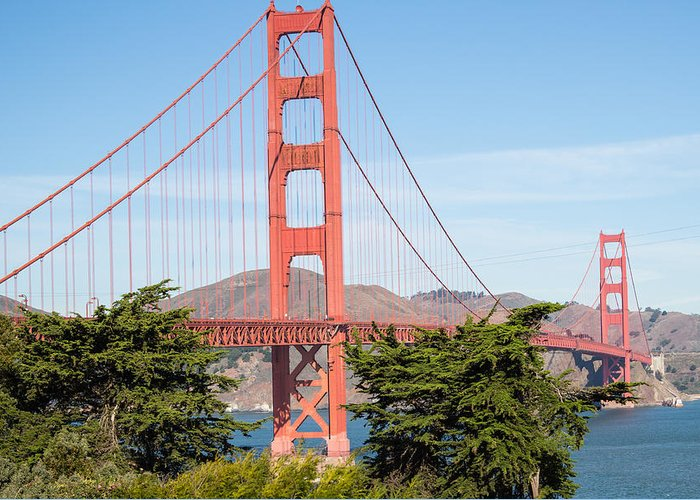 Golden Gate Bridge Greeting Card featuring the photograph Golden Gate Bridge In San Francisco by Natural Focal Point Photography