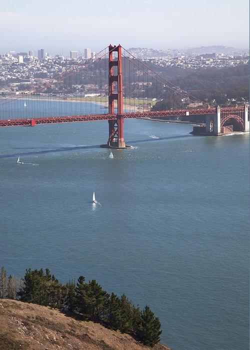 American Greeting Card featuring the photograph Golden Gate Bridge by Jenna Szerlag