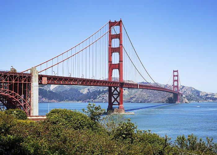 Golden Gate Greeting Card featuring the photograph Golden Gate Bridge by Kelley King