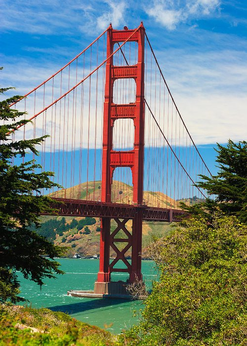 Architecture Greeting Card featuring the photograph Golden Gate Bridge by Raul Rodriguez