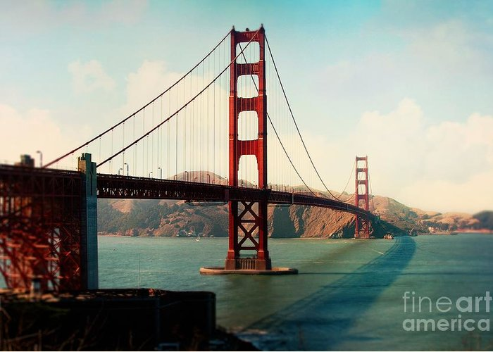 Golden Gate Bridge Greeting Card featuring the photograph Golden Gate Bridge by Sylvia Cook