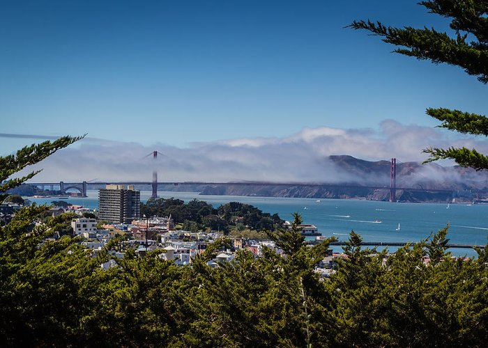 America Greeting Card featuring the photograph Golden Gate by Carlos Cano