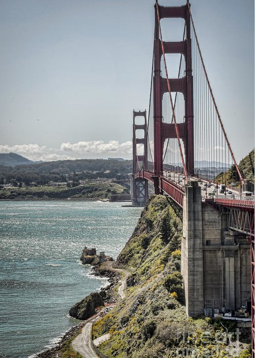 Golden Gate Bridge Greeting Card featuring the photograph Golden Gate by Heather Applegate