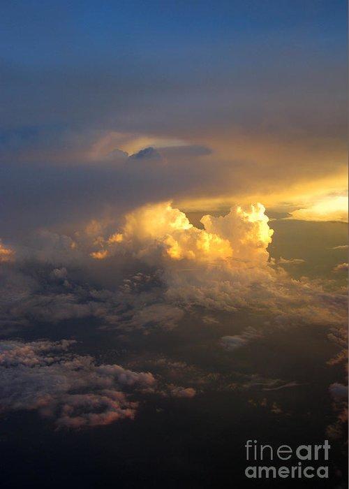Cloud Greeting Card featuring the photograph Golden Rays by Ausra Huntington nee Paulauskaite