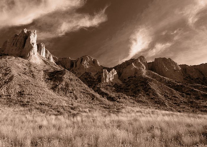 Hoodoos Greeting Card featuring the photograph Golden Sentries by Peter Olsen